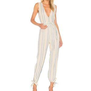 Tularosa Embroidered Stripe Jumpsuit Sleeveless S